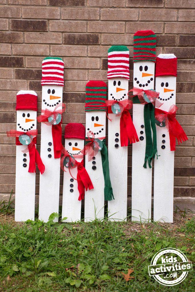 Kid Sized Snowman Multiple
