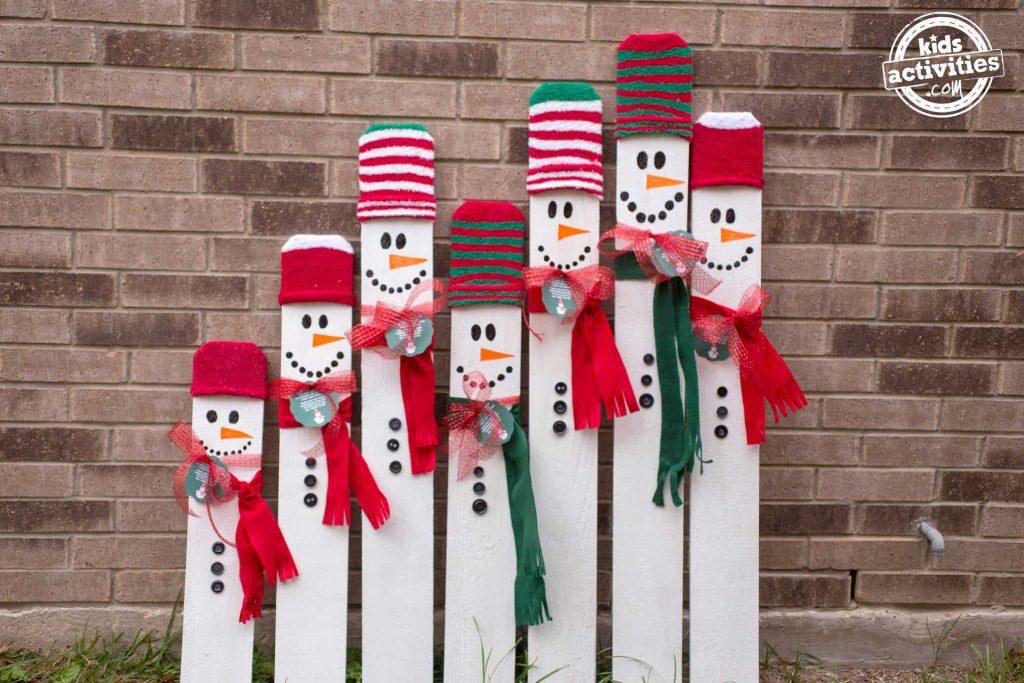 Kid Sized Snowman Multiple Wide