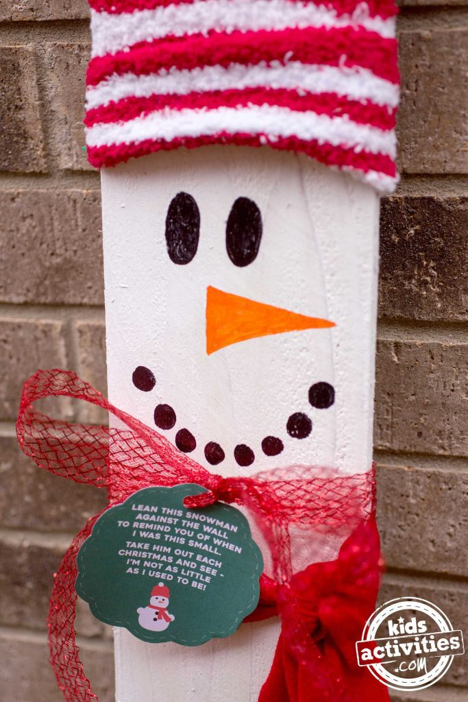Kid Sized Snowman With Tag