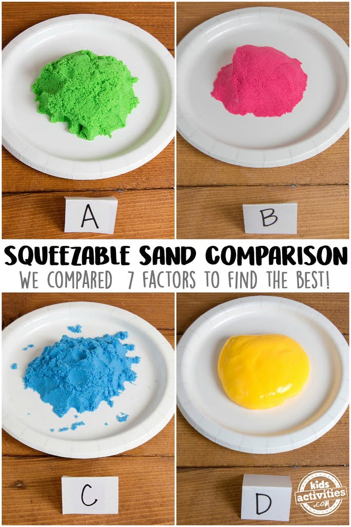 Blind Text of Kinetic Sand Brands