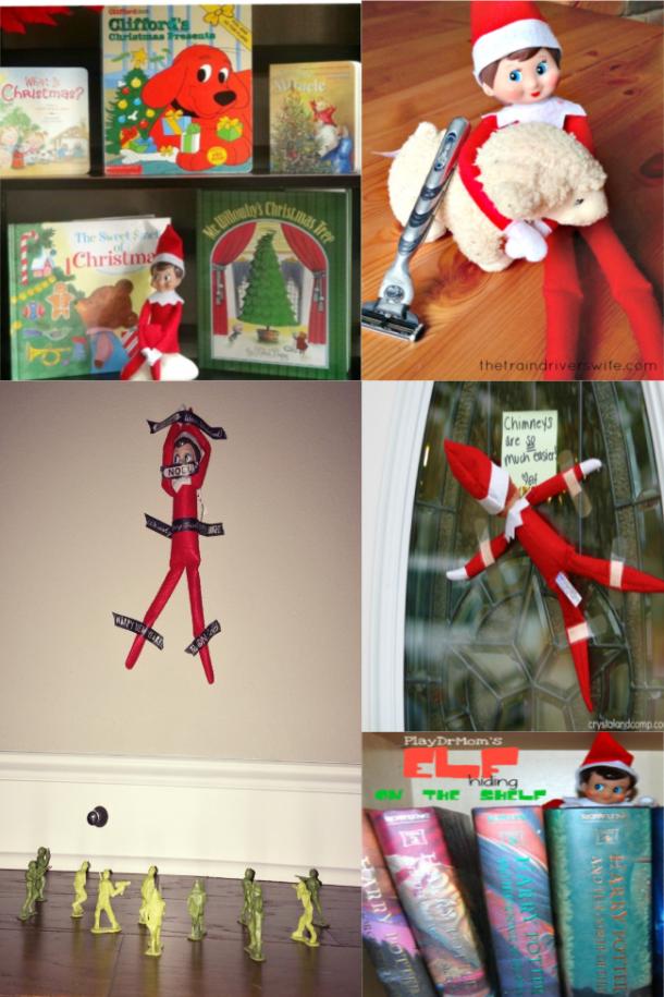 Beaucoup d'idées faciles d'elfe sur l'étagère