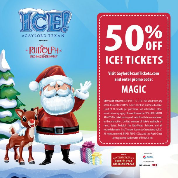 551bfbf20 Gaylord Texan ICE Experience 2018   50% Coupon Code