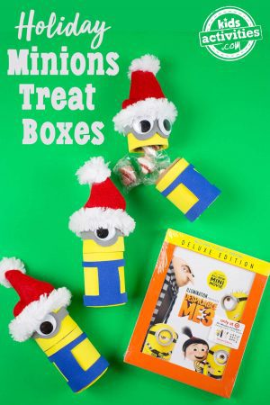 Minions Holiday Treat Boxes And Despicable Me 3 DVD With Treats