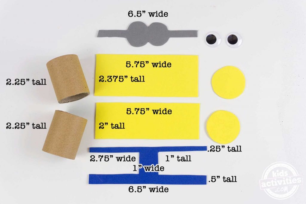 Minions Holiday Treat Boxes Measurements