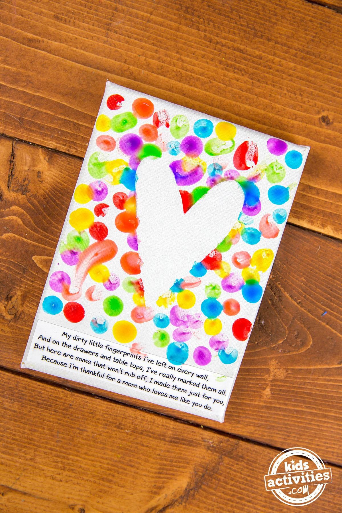 Mother S Day Fingerprint Art