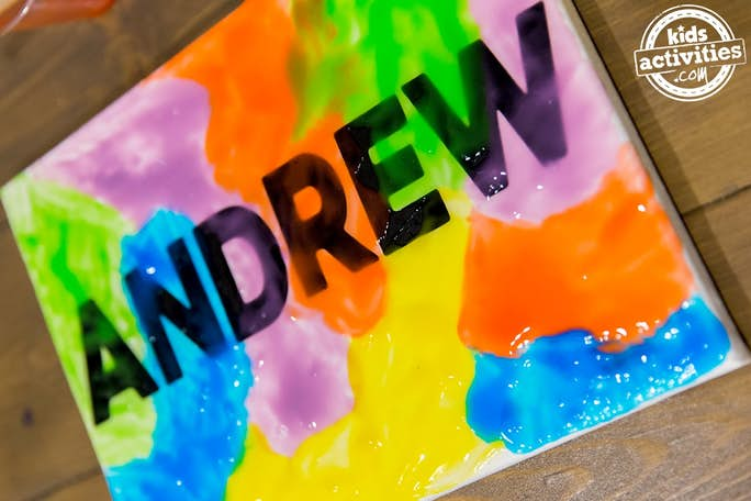 Name Art Waiting To Dry