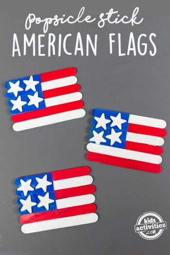 popsicle stick american flags