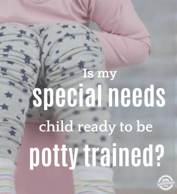 Potty Train Special Needs Girl On Potty