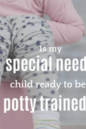 Potty Train Special Needs Girl On Potty