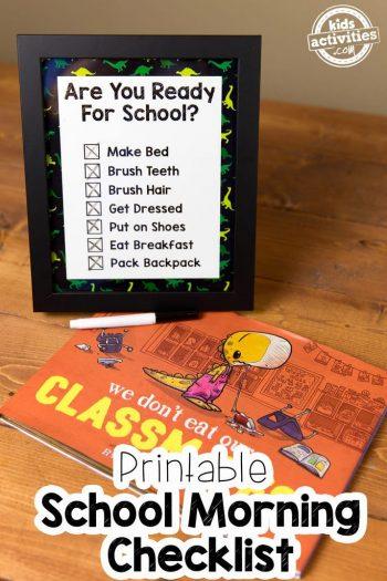 Printable School Morning Checklist