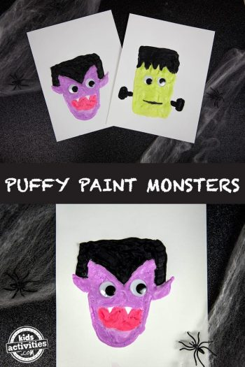 Puffy Paint Monsters for Halloween