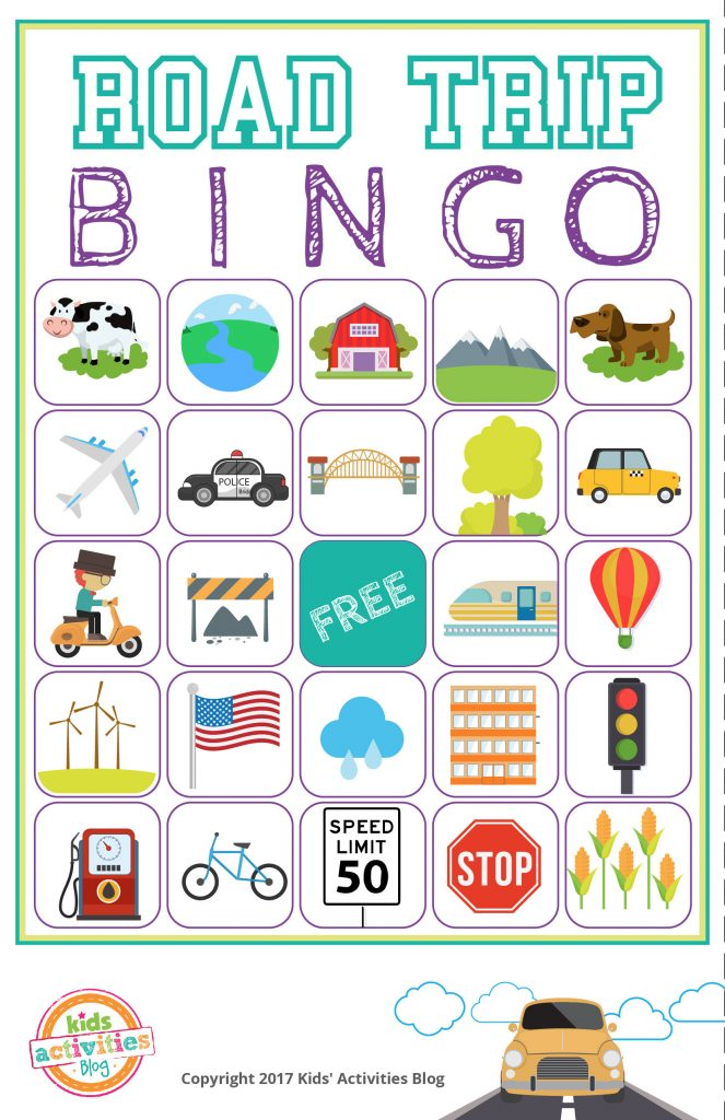 image about Printable Bingo Chips called Highway Holiday vacation Bingo Printable Video game - Cost-free Down load of 6 Drive