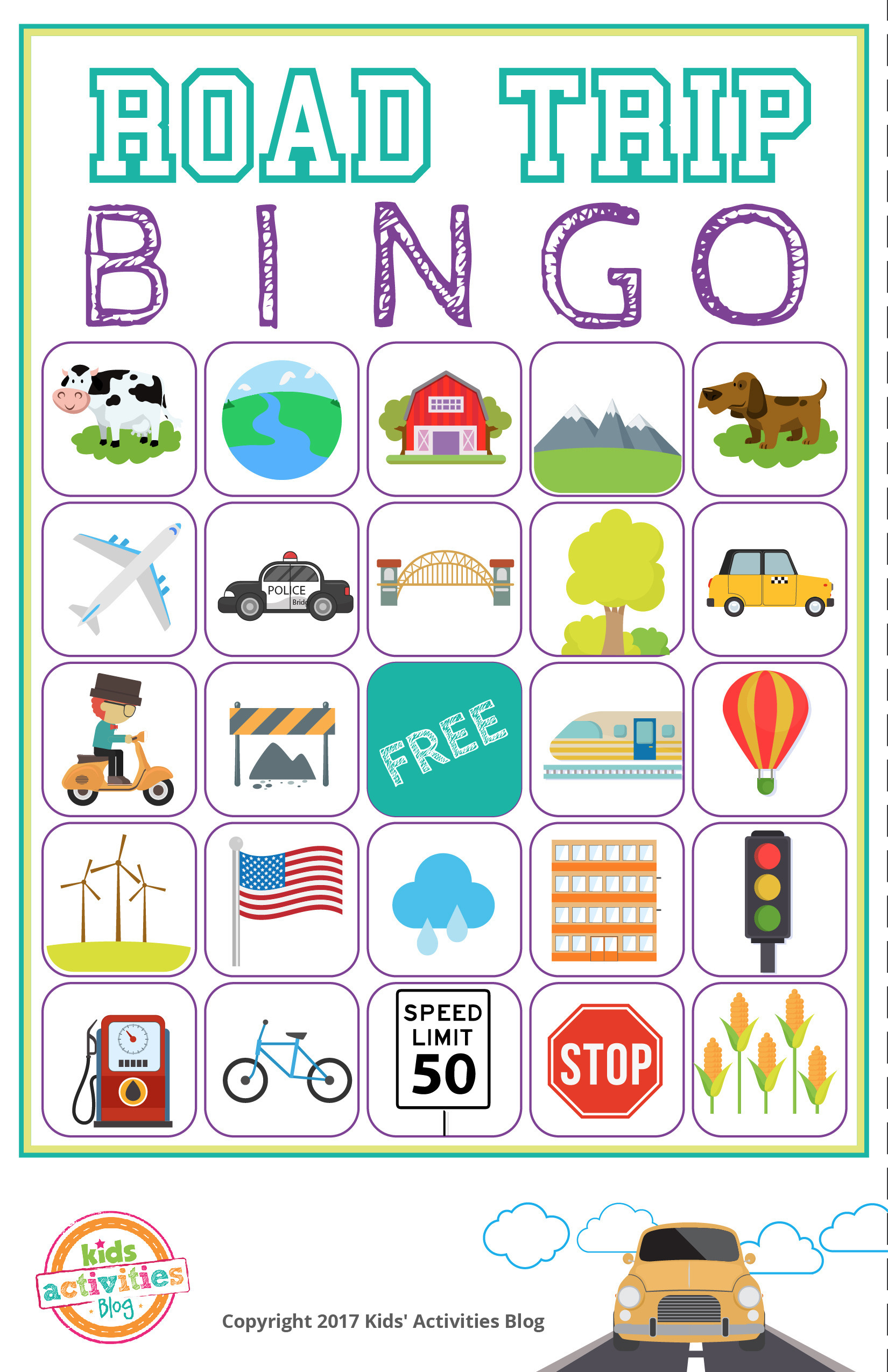 This is a picture of Ambitious Printable Travel Bingo