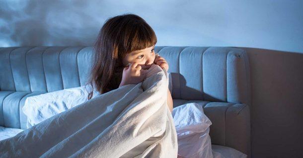 Scared Of Dark Girl In Bed