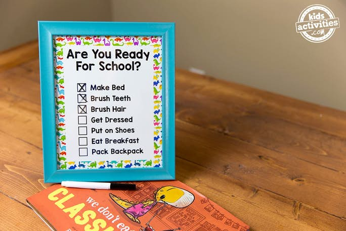 School Morning Checklist