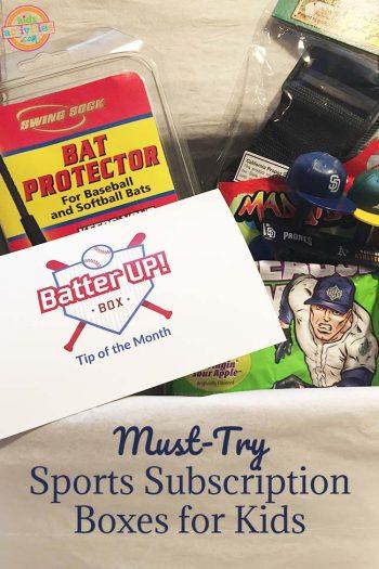 Sports Box Batter Up Items Inside