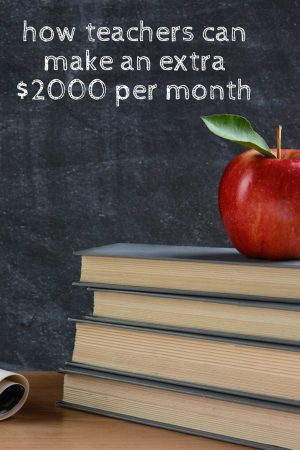 Teachers Make Extra Money Apple Chalkboard Books