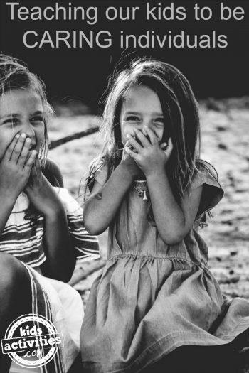 Teaching Kids Caring Girls Laughing