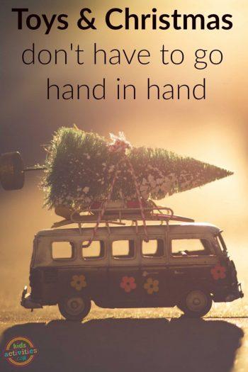 Toys And Christmas Tree On Van