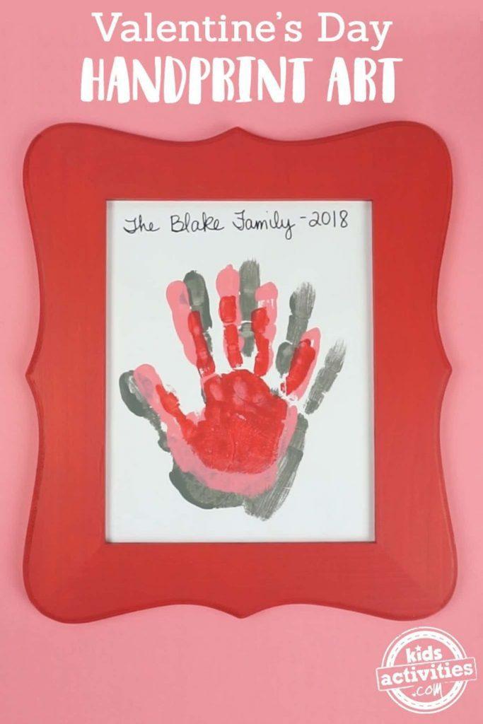 Valentines Day Handprint Art for kids to make