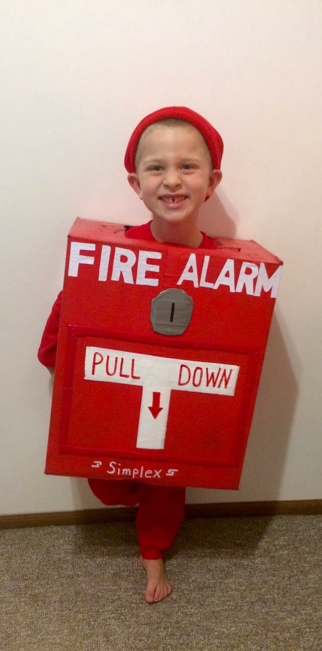 Why I Celebrate Autism on Halloween - fire alarm