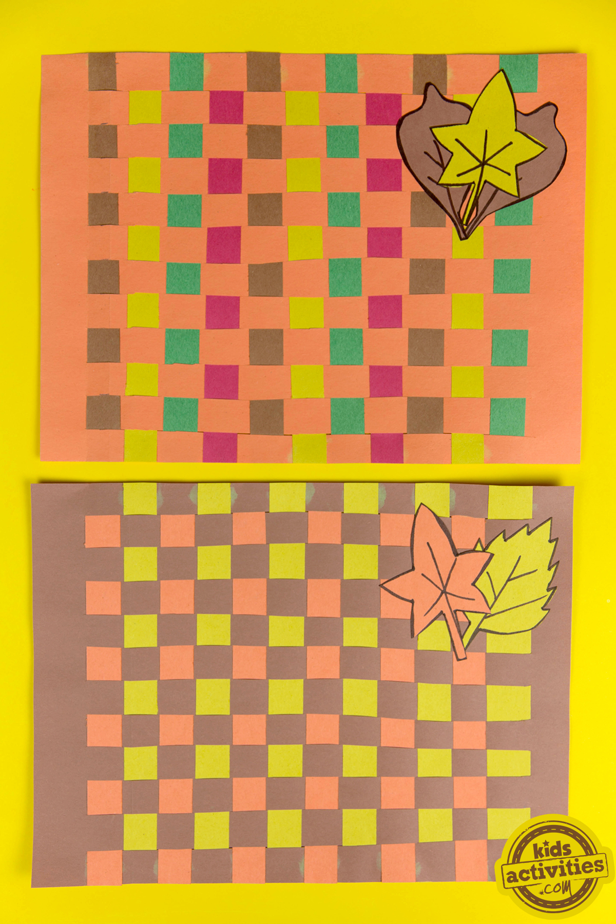 Woven Paper Placemats Thanksgiving Kids Craft
