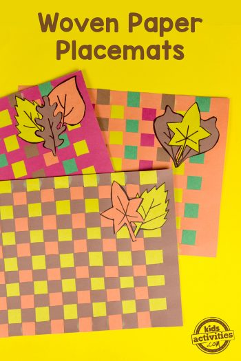 Woven Paper Placemats for Thanksgiving