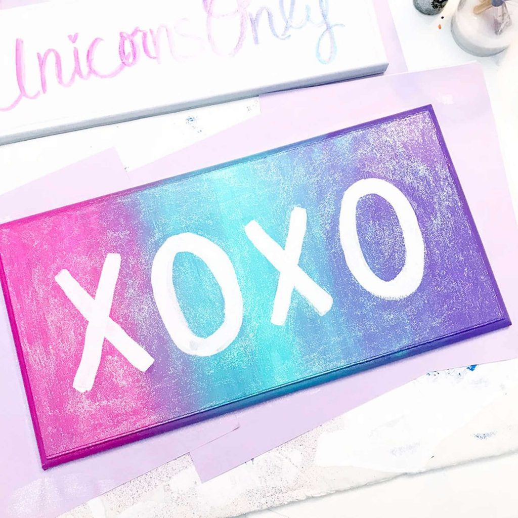 XOXO Wall Sign Completed