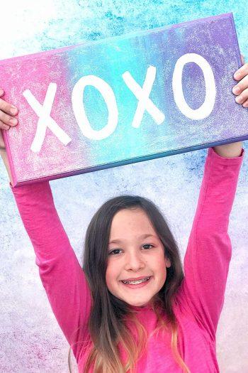 XOXO Wall Sign With Girl