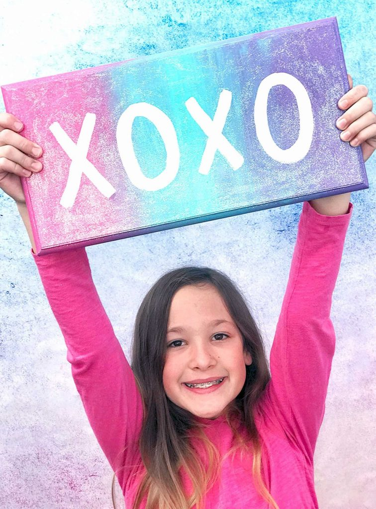 XOXO Wall Sign With Girl
