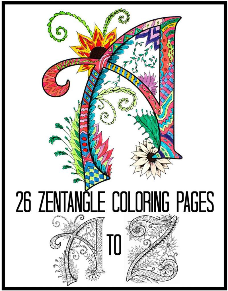 alphabet zentanbles coloring pages - 26