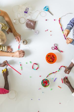 Children Doing Bead Work
