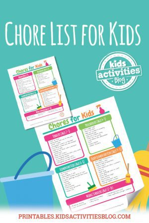 chore list for kids by age