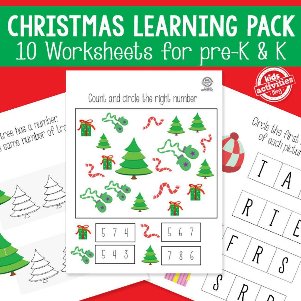 christmas activity packet - 10 worksheets
