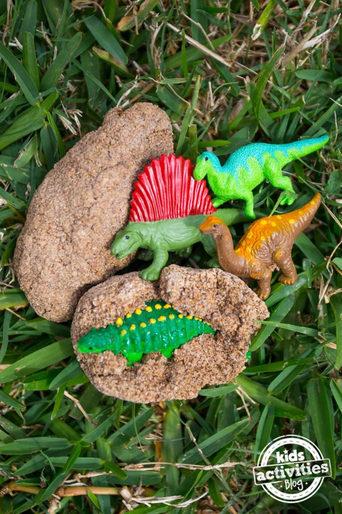 dinosaur surprise eggs finished activity for kids