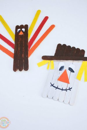 fall popsicle stick crafts - turkey
