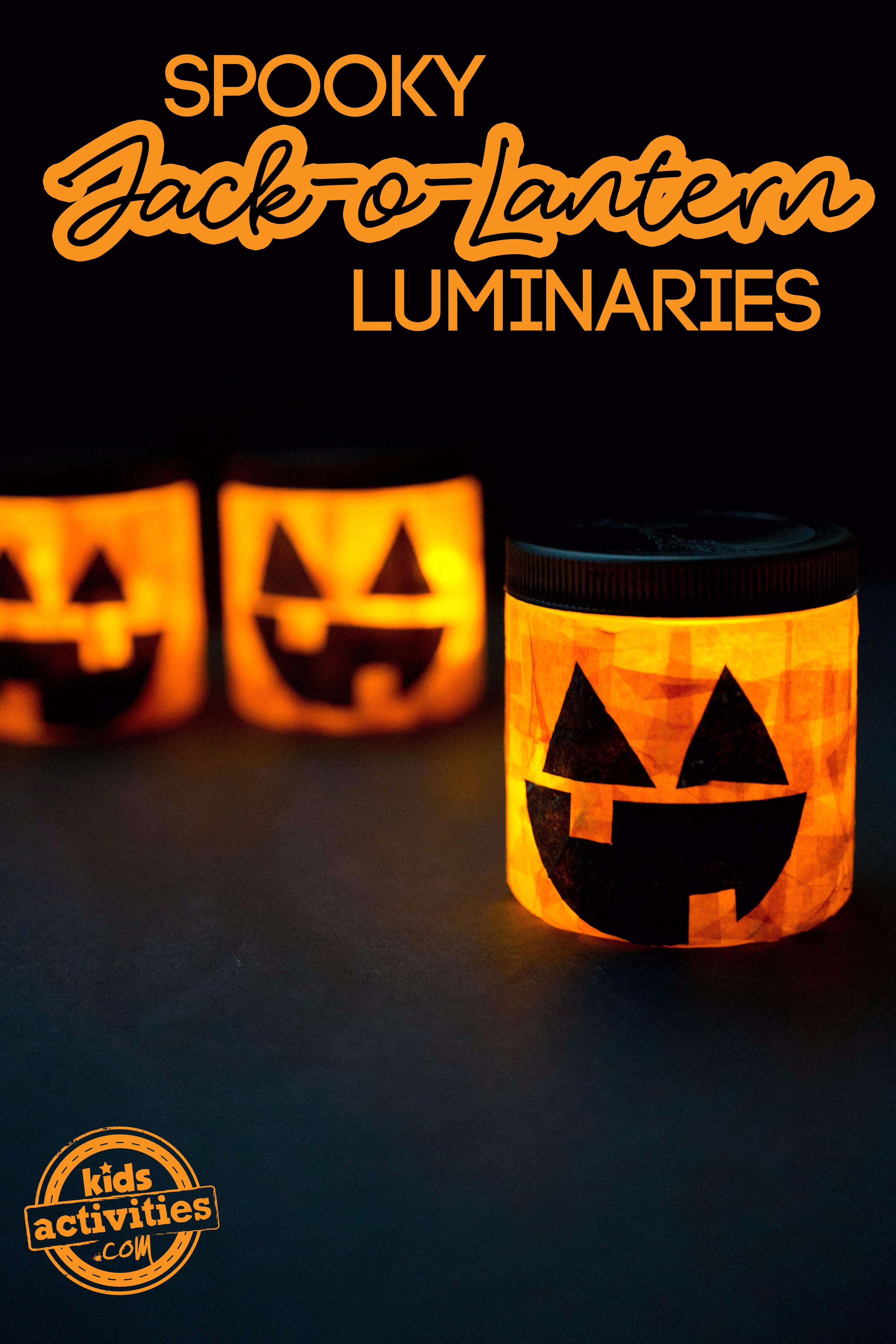 Spooky Jack O Lantern Luminaries