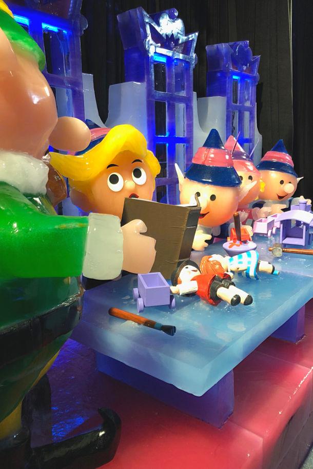 ice gaylord texan Santas workshop Dallas branch