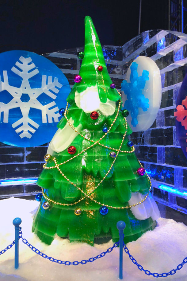 ice gaylord texan christmas tree made out of ice dallas