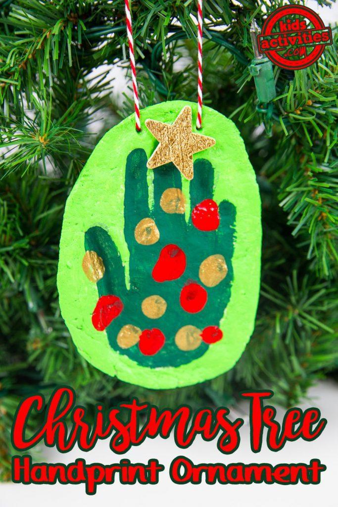 Handprint Christmas Tree Ornament