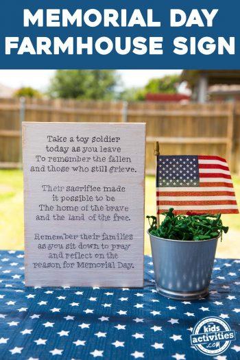 memorial day patriotic sign