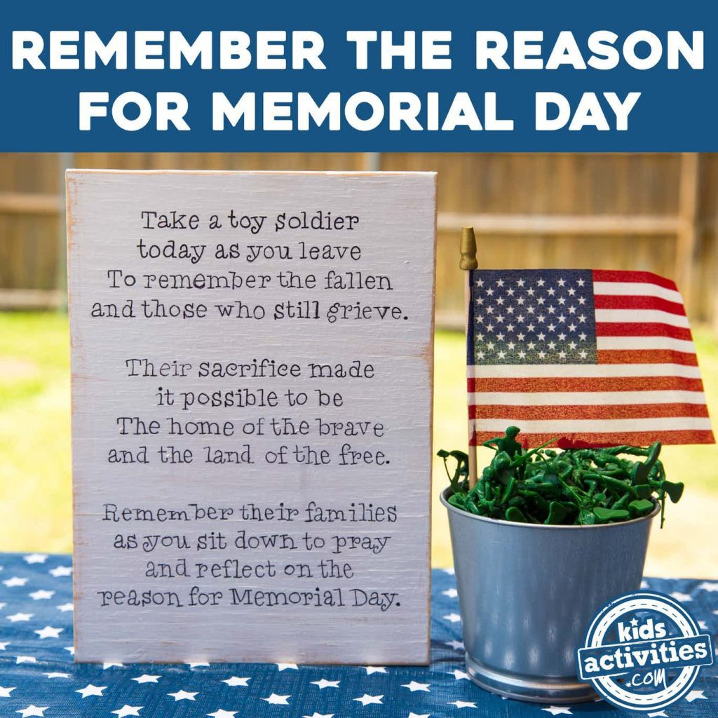 memorial day patriotic sign sq