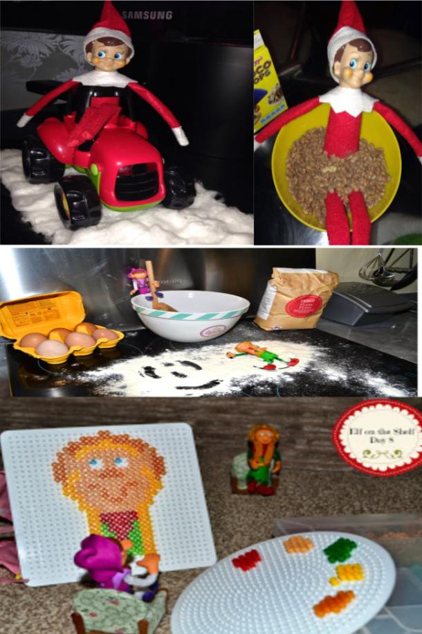 idées d'elfe en désordre sur l'étagère