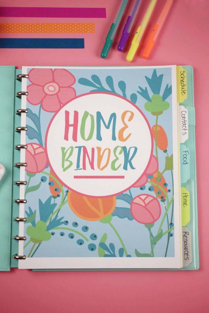 printable home planner - home binder