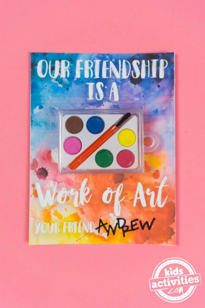 printable watercolor valentines friendship is a work of art