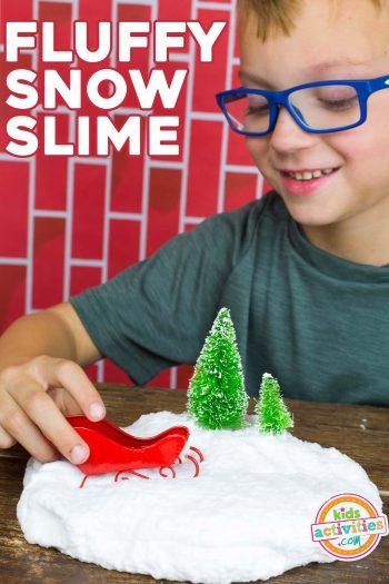 snow slime - fluffy DIY snow slime
