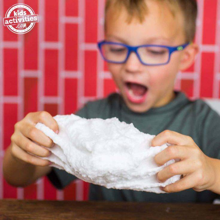 slime de neige - plaisir moelleux et extensible