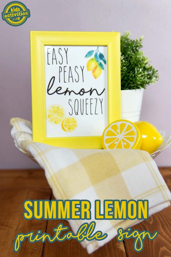 summer printable lemon sign easy peasy lemon squeezy