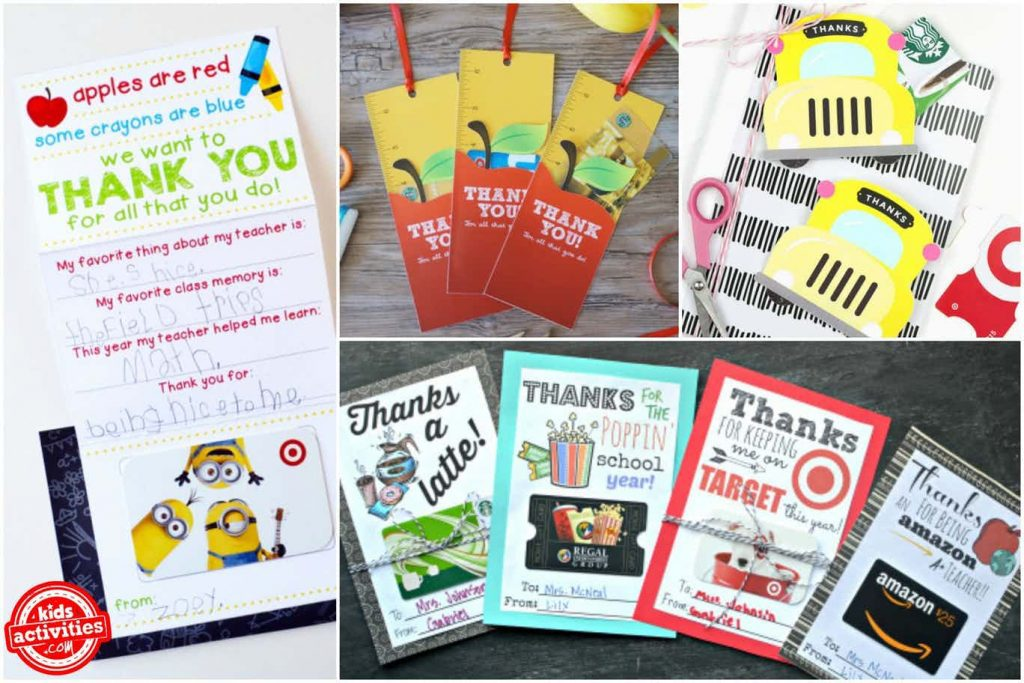 Teacher Appreciation Gift Card Holders You Can Print