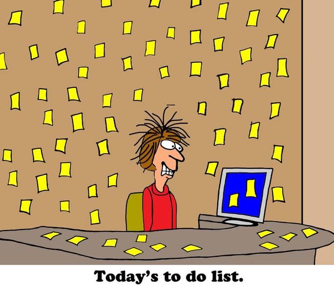 todays to do list